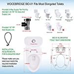 WOODBRIDGE BDI-01 Elongated Bidet Seat with Air Dryer and Stainless-Steel Nightlight | Nozzle Oscillation 20 <p>✅Include Woodbridge one-piece toilet and luxury bidet seat. Bidet seat fits the toilet perfectly ✅Modern design: sleek, low profile skirted elongated one-piece toilet, comfort height, water sense, high-efficiency ✅Hygiene: posterior wash, feminine wash, pulsating wash, adjustable water pressure, hygienic filtered water ✅Comfort: water heater, warm air dryer, unlimited warm water, heated seat (5 adjustable temperature), with oscillating and gentle massage pulse functions ✅Convenience: safety on/off sensor, self-cleaning nozzles with stainless steel material. Quick release seat for easy cleaning. Energy save mode design ✅ 2-year limited manufacture</p>