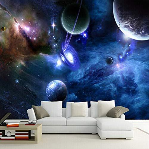 HUIJIE Fototapete,Benutzerdefinierte 3D Wandbilder Galaxy Fluoreszierende Fototapeten Feuchtigkeit Hintergrund Wand Dekoration Wohnzimmer Schlafzimmer Wallpaper Landschaft, 250Cm(H)×360Cm(W)