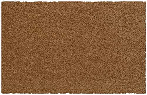 Portifera Coco Brush – Felpudo de fibra de coco con respaldo de PVC resistente – Natural – Tamaño: 80 cm x 50 cm – Altura del pelo: 17 mm – Color perfecto para uso en interiores y exteriores.