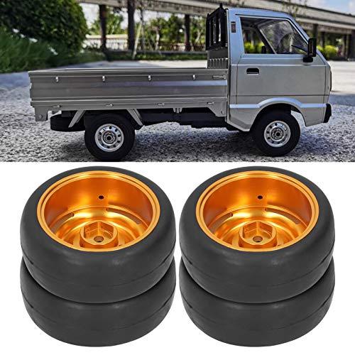 Zwinner Neumáticos RC con Adaptador, Neumáticos RC Artesanía sofisticada con 4 neumáticos RC para camión de Control Remoto WPL D12 para usuarios de Coches RC