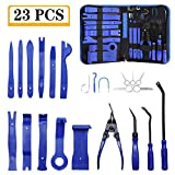 Trim Removal Tool, AMDRFO 23Pcs Car Panel Door Audio Trim Removal Tool Kit, Auto Clip Pliers Fastener Remover Pry Tool Set with Storage Bag