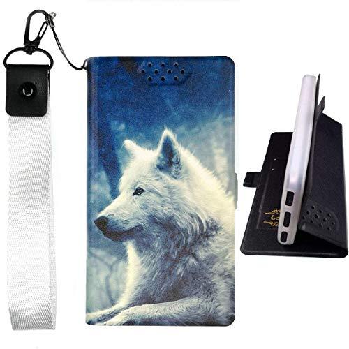 Lovewlb Funda para Leotec Smartphone Argon E250 Funda Flip Cuero de la PU+ Cover Case de Silicona Protección Fija Lang