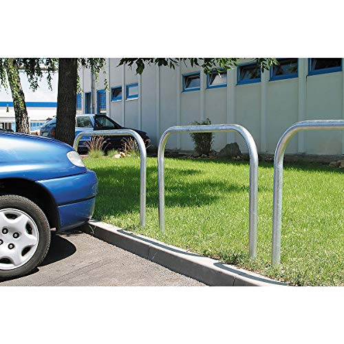 Certeo Absperrbügel zum Einbetonieren oder Aufdübeln | Breite 120 cm | Absperrung Sicherheitsbügel Rammschutzbügel Absperrbügel Wegesperre