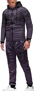Sodossny-AU Men's Sweatsuits Pants Hoodies Sport Jogger 2-Piece Sets Camouflage Tracksuits