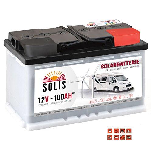 Solis Solarbatterie 100AH 12V Antriebs Versorgungs Boots Wohnmobil Solar Caravan Batterie …