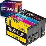 YINGCOLOR 405XXL Drukerpatronen für Epson 405 Patronen 405 XXL Multipack für Epson Workforce WF-7840DTWF WF-7830DTWF WF-7835DTWF, 7840DTWF WF 7830 7835DTWF,WF-7840 WF-7830 WF 7835 4er Pack