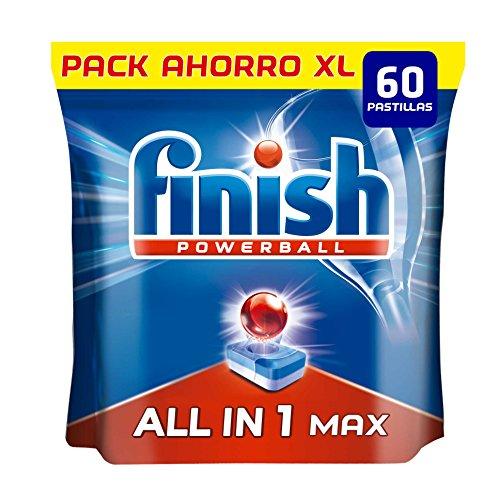 Finish Todo en 1 Max Regular Pastillas para Lavavajillas - 60 pastillas