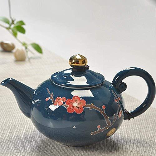 Tetera de hierro fundido,Juego de tetera de 200 ml de cerámica Kung Fu s Porcelana Tetera Celadon teaset Vintage pintado a mano regalo decoración del hogar Presente