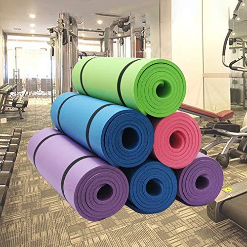 hearsbeauty 15mm Dicker Rutschfester NBR Bodybuilding Fitness Übung Yoga Pilates Matte Kissen Teppich Rosa