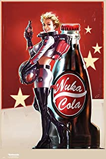 Fallout 4 - Gaming Poster/Print (Nuka Cola Girl - Cola Ad/Space Suit) (Size: 24 inches x 36 inches)