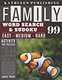 Family Word Search and Sudoku Puzzles Large Print: 100 games Activity Book Sea Fish| WordSearch | Sudoku - Easy - Medium and Hard for Beginner to ... | Made in USA Vol.99 (Family activity book)