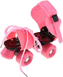 Baosity Safe 4 Wheels Roller Skates Double Rows Sliding Shoes Party Game for Boys Girls