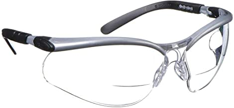 3M 11459-00000-20 Dual Reader Safety Glasses, 2.5X top and Bottom diopters