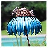 Alimentador de aves, Alimentador de aves silvestres Colgando para jardín Alimentador de aves irrompibles, Rojo brillante, Bule brillante, Alimentador de patio trasero, Atrayendo Aves Decoración de jar