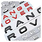 FSLLOVE Chrome Car PEQUEÑO TRANSPAÑO Lego Letras Emblem Badge Etiqueta Cubierta Cubierta Ajuste para Rango Rover Sport EVOQUE (Color Name : Red)