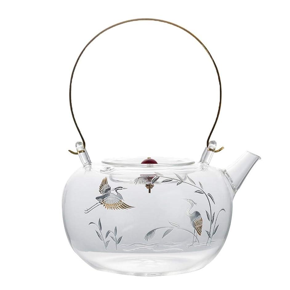 Teapots Coffee Servers Teapot Home High Temperature Anti-scalding Teapot Glass Detachable Environmental Teapot Ice Coffee Maker (Color : Clear, Size : 900ml)
