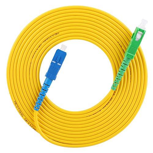 15 metros/49.2 pies Puente de fibra óptica monomodo Caja de PVC de alta calidad SC/APC-SC/UPC Cable de conexión de extensión de modo simple simplex