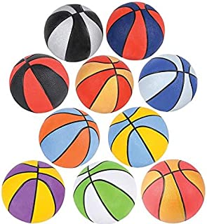 Rhode Island Novelty 5 Inch Assorted Multi-Color Micro Basketballs, Pack of Five