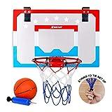 XGEAR Mini Hoop Panier de Basketball Mini Panier Basket Accessoires avec Ballon et Pompe pour Les Enfants