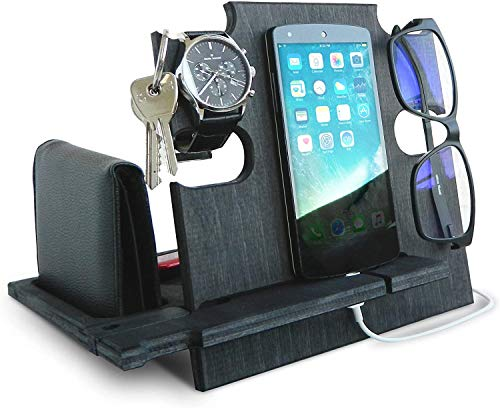 Lac Docking Station | Regalo Compleanno Uomo | Regalo Compleanno,Regalo per Lui | Regalo per Uomo,Regalo per Marito | Regalo per Papa | Regali di Compleanno,iPhone Stand | iPhone scrivania