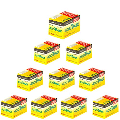 Kodak 400 TMAX Professional ISO 400, 35 mm, 36 exposiciones, película en Blanco y Negro (10 Rollos)