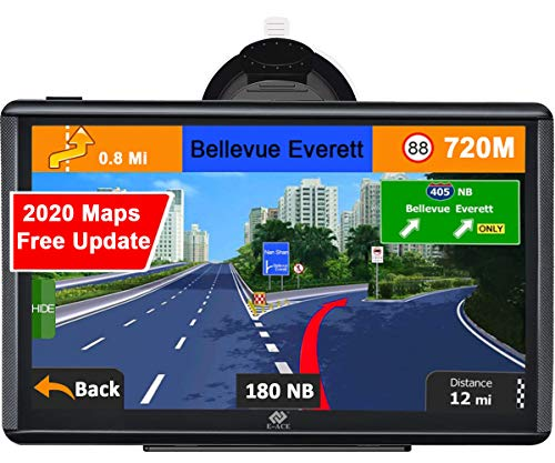 """E-ACE GPS Navigation for Car 7"""" Touchscreen 8GB Memory Vehicle GPS Navigator System Real Voice Spoken Turn Direction Reminding GPS for Car with Lifetime Free Map Update (G745)"""