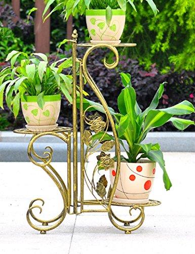 Étagères à fleurs polyvalentes fer atterrissage racks de fleurs Des couches multiples Intérieur et extérieur Rack pot de fleur salle de séjour balcon Vert radis panier Rack pot de fleur Pour intérieur et extérieur