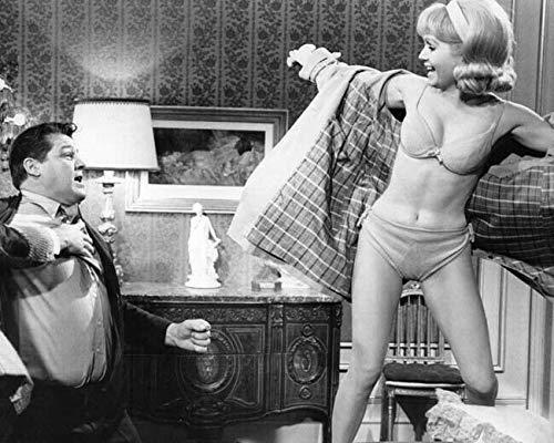 Debbie Reynolds stands on table wearing bikini How Sweet It Is 8x10 photo