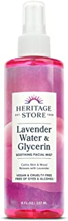Heritage Store Lavender Flower Water & Glycerine   Benefits Skin, Hair & More   Aromatherapy Mist Spray   8 oz