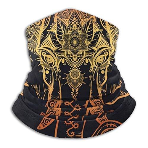ASDTF The Golden Elephant - Braga para el cuello de invierno (forro polar), diseño de elefante