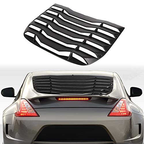 ECOTRIC Rear Window Louvers Windshield Cover Sun Shade ABS Fit for 2009-2019 370Z (Will not fit Convertible)
