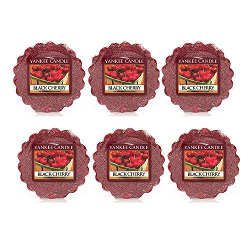 Yankee Candle lote de 6 tortas de cereja preta derrete de cera