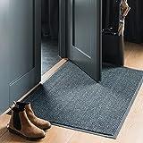Veliy Saturn Fußmatte mit starker Schmutz und Feuchtigkeitsabsorption waschbar für den Hauseingangsbereich innen und außen Schmutzfangmatte 2 Größen 2 Farben Eingangstürmatte