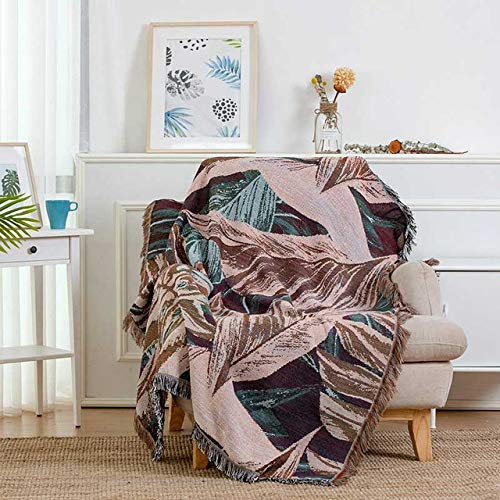 RAQ Gebreide bank deken afdrukken stijl draad vier seizoen gooien dekens voor slaapkamer kantoor Travel bank handdoek Cover 130X180cm