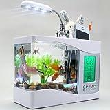 MFEIR Piccolo USB mini pesci d'acquario serbatoio pesci ornamentali ecologia...