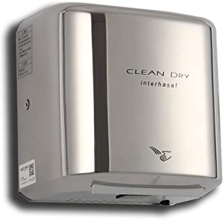 interhasa! Heavy Duty Stainless Steel Hand Dryer for Bathroom,950W(Polished) Automatic Commercial High Speed