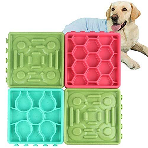 Elezenioc 4 Pack Dog Slow Feeder, Slow Feeder Dog Bowl Langsam fressende Feeder für Hunde