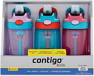 (跨境自营)(包税) Contigo 康迪克儿童水壶 14OZ-女款 三只装