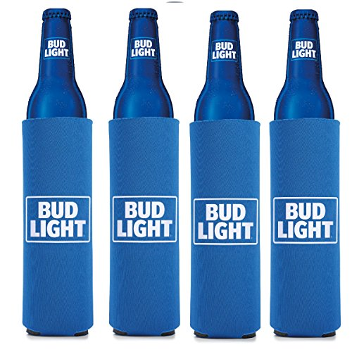 Bud Light 16 oz Beer/Water Slim Bottle- Set of 4