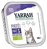 YARRAH - Cibo Biologico per Gatti in paté, Confezione da 16 Pezzi x 100 g l'Uno