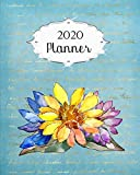 2020 Planner: Daisy Daily, Weekly & Monthly Calendars | January through December | #8 | Blue