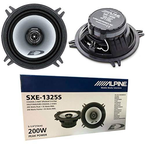 """2 Altavoces coaxiales de 2 vías Compatible con Alpine SXE-1325S 13.00 cm 130 mm 5"""" con 35 vatios rms y 200 vatios MAX impedancia 4 ohmios, por par"""