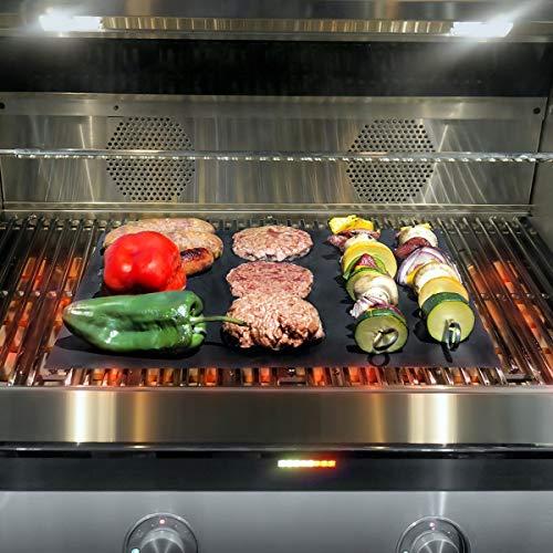 Haokaini Grill Grill Matte Antihaft Grill Grillblatt Grillmatten Antihaft Fisch Gemüse Räuchern Zubehör