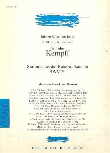 Sinfonia aus der Ratswahlkantate: