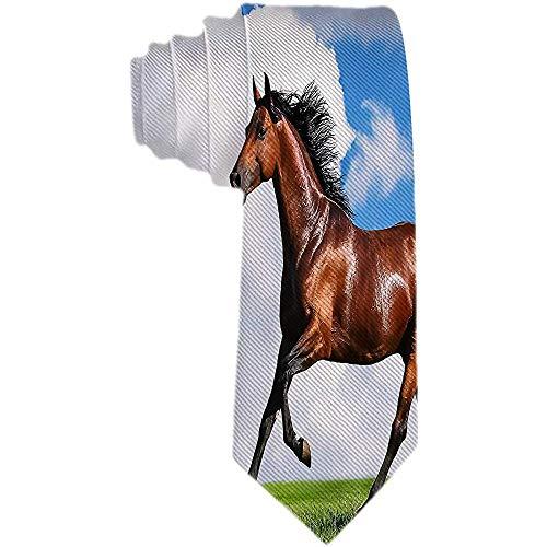 Hombre Correr Caballo En La Granja Corbatas Corbata Traje de fiesta formal Corbatas de regalo únicas