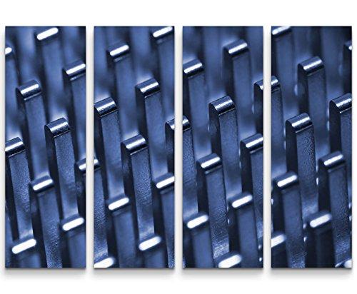 4 teiliges Canvas Bild 4x30x90cm Moderne Fotografie – Radiator auf einem Mainboard