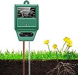 Soil pH Meter, 3-in-1 Soil Moisture/Light/pH Meter, Moisture Meter for Plants, Digital Soil Test Kit, Plant Moisture/Light/pH Meter Indoor & Outdoor, No Battery Required