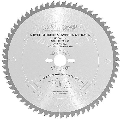 CMT Orange Tools 297,064,11 scie circulaire 280 m x 30 x 3,2 z 64°-6 tcg