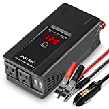 POTEK 500W Power Inverter DC 12 V to 110V AC Car Converter with Digital Display Dual AC Outlets and Dual USB Charging Ports for...