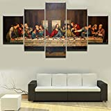 Canvas Poster Da Vinci Modern Home Decor The Last Supper Print Painting Religion Wall Art Character Modular Picture Living Room